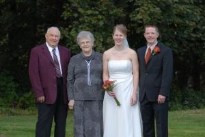 Grandma & Grandpa at our wedding in Nova Scotia