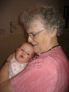 Grandma with Baby Ella, January 2009