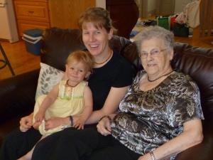 Jackie, Ella & Grandma