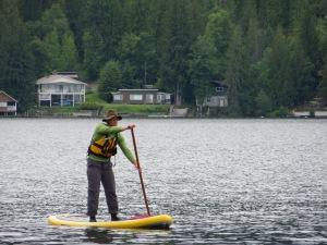 Paddling on Christina Lake
