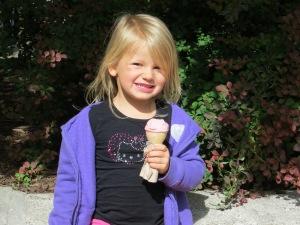 Enjoying ice cream on Baker Street