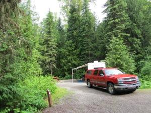Our site at Mt. Fernie Provincial Park